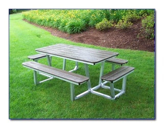 Picnic Tables Polywood Furniture - One sided picnic table